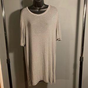like new Brandy Melville white/blue dress (6/$14)
